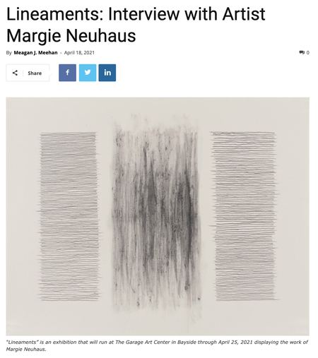 Lineaments: Interview with Artist Margie Neuhaus by Meagan J. Meehan